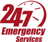 Logo 247 Emergency Services Red Copy